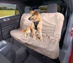 charcoal dog seat covers kurgo heather bench seat cover nutmeg