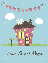 Small Picture Home Sweet Home Card Illustration Royalty Free Cliparts Vectors