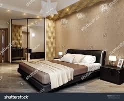 Modern Bedroom Interior Design 3d Rendering Stock Illustration ...