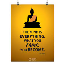 Quotesutra The Mind Is Everything Buddha Quote Poster 250 300 Gsm Paper A3 Yellow
