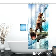 jaws shower curtain shooting bear ride shark surf shower curtain shark shower curtain