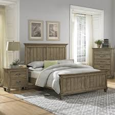 Oak Veneer Bedroom Furniture Homelegance Sylvania Panel Bed In Oak Veneered Driftwood Beyond