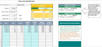 Baby Growth Plan Chart Template For Excel Free Download