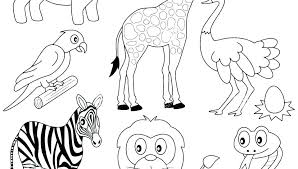 Wild Animal Coloring Book Pages Wild Animals Coloring Pages