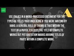 Essay Title In Italics Or Quotes