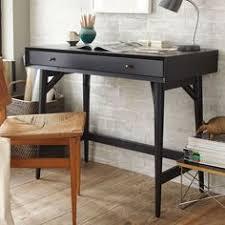 west elm office desk. unique office midcentury mini desk  black with west elm office