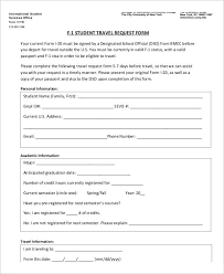 Travel Request Form Template Free Template Of Business Resume