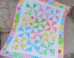 Pinwheel baby quilt | Etsy & baby girl crib cot quilt, tummy time play mat, stroller blanket, small pram Adamdwight.com