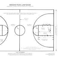 Half Court Basketball Template Caseyroberts Co