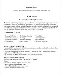 Resume For Nanny Impressive Nanny Resume Template 28 Free Word PDF Document Download Free