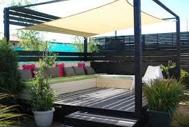 pallet outdoor furniture ideas creative wooden tent white diy garden sofa colorful decorative pillows