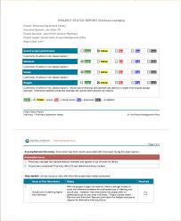 Sample Weekly Status Report Template 9 Status Report Examples Samples Examples