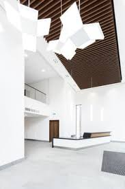 office ceilings. This Prestigious £3.9 Million Office Refurbishment Was The First UK Project  To Feature Wood- Ceilings
