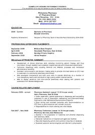 Cv Example For Pharmacist | Resume Template Example