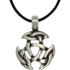 pewter uni celtic crescent knot black leather cord necklace free on orders over 45 6491473