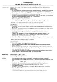 Amazing Sample Resume For Android Developer Fresher Contemporary