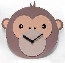 monkey business kids wall clock