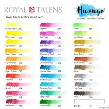 Royal Talens Ecoline Liquid Watercolour Brush Pen 30 Colours Set 1 2