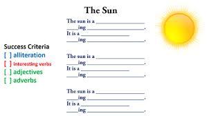 How To Write A Sun Poem Unicorn Writing