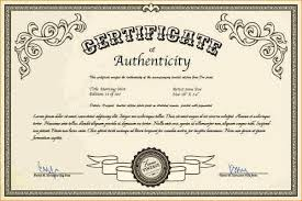 Certificate Of Authenticity Template Simple Kentchurch Butlers Initials And Certificate Kentchurch Butlers