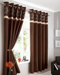 modern faux silk lined curtains plum brown black