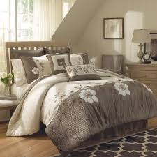 comforter sets brown and white comforter bedding set fl pattern placed on the light brown