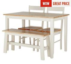 table 2 chairs and bench. collection chicago solid wood table, bench \u0026 2 chairs table and n