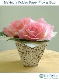 Folding Paper Flower Making A Folded Paper Flower Box Thriftyfun