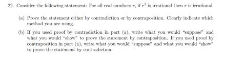 Method Of Statement Classy Solved Consider The Following Statement For All Real Num