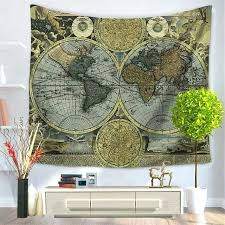 polyester printed world map wall tapestry hangings for print hanging art decoration