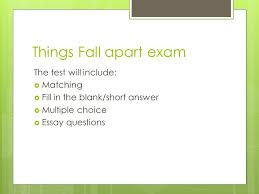 things fall apart monday ppt  14 things fall apart