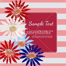 american template template design poster blank text frame hand drawn flowers