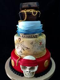 Treasure Chest Pirate Theme Birthday Cake Cake By Galatia