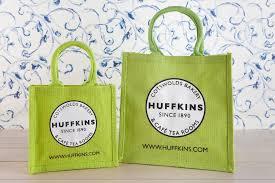 Spring Green Jute Eco Bag Huffkins