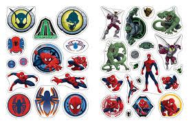 Marvel человек паук наклейки и раскраски росмэн Rosman купить в