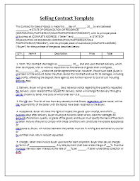 Contract Essential Elements Interesting Selling Contract Template Tips Guidelines