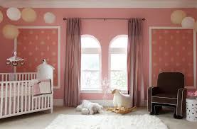 pink nursery furniture. Playful Nursery Room With Elegant Pale Pin Wall Decals Also Interesing Large Twin Windows Pink Furniture S
