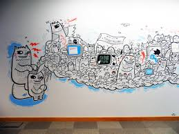 The staff gave me so much information and quirky details to place into the  mural, they were worried about all imagery looking chaotic, but personally  I like ...