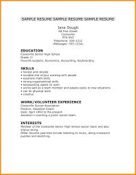 Resume Resume Simple Job Template Fantastic Very Examples