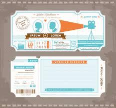 Invitation Ticket Template Wedding Invitation ticket template vector 100 Vector Card free download 70