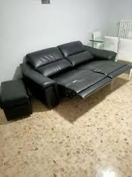 Va asteptam maine la deschiderea celui mai nou showroom de mobila divani & sofa' in brasov! Divano In Pelle Nera 2 Posti Poltrone E Sofa Relax Ebay