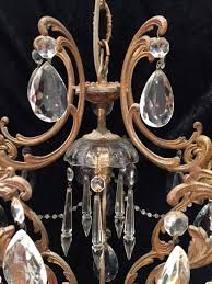 small one light antique chandelier