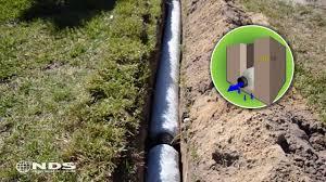 ez drain french drain installation the gravel free alternative you