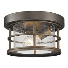 z lite exterior additions oil rubbed bronze 10 inch one light outdoor ceiling light with clear seedy glass shade