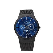 men s 809xltbn titanium blue dial watch skagen men s 809xltbn titanium blue dial watch