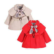 cute causal baby girl trench coat solid belt european style coat for 9 24m babies newborn infantil outerwear coat clothes hot trench coat jacket las