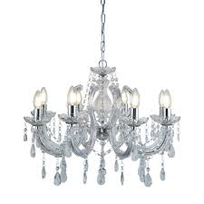 lighting home chandeliers marie therese chrome 8 light chandelier with crystal drops