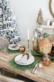 Green and Gold Christmas Tablescape - Maison de Pax