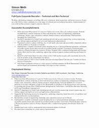 Sample Recruiter Resume Examples Sample Recruiter Resume Lovely X 24 Organising Recruiter Resume 4