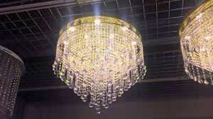 60cm led crystal flush gold chandelier by first class lighting ltd you